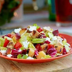 Grilled Chicken & Nectarine Chopped Salad Recipe from Eating Well