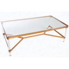Found it at Joss & Main - Fleming Acrylic Coffee Table $285 light and airy coffee table