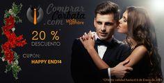 Aprovecha este descuento fugaz!! Tienes hasta el 6 de Enero para pedir tu accesorio con un 20 % de descuento. www.comprarcorbata.com