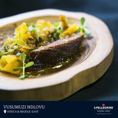 Chef Vusumuzi Ndlovu will represent Africa and the Middle East with his duck signature dish entitled 'Isicupho.'