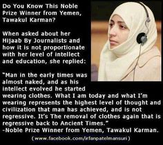 I am not Muslim, and I do not wear hijab; but I appreciate its value, and I could not agree with Madam Karman more. Best Islamic Quotes, Islamic Inspirational Quotes, Muslim Quotes, Hijab Quotes, Religious Quotes, Arabic Quotes, Inspiring Quotes, Islam Muslim, Islam Quran