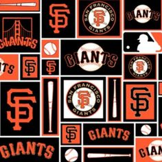 MLB San Francisco Giants Quilt Cotton Fabric By The Yard Fabric by the Half  Yard Licensed By Fabric Tradition 25995380b236