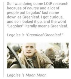 The legend of Greenleaf Greenleaf. -- THIS REMINDED ME OF REMUS SOMEONE SAID HIS NAME LITERALLY MEANS WEREWOLF MCWEREWOLF II AND THEN SOMEONE ELSE SAID MOON MOON IM STILL ON THE FLOOR - Angel