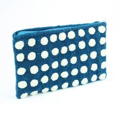 Hand Embroidered Wool Polka Dots Clutch by KaniArts on Etsy