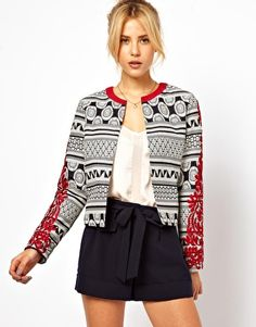 ASOS Statement Jacket with Embroidered Sleeves - oh so adorable, love