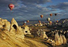 """Cappadocia, Turkey   """"The art of nature, Cappadocia"""" by kani polat, via 500px."""