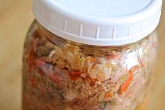 Schnelles selbstgemachtes Kimchi - lecker und super für den Darm durch die probiotische Wirkung!