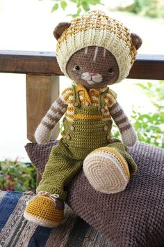 Clothes toy crochet pattern PDF Outfit for Bunny Cat Dog Toys - Outfit Farmboys Crochet Instructions, Yarn Brands, Boy Photos, Cat Pattern, Creative Crafts, Cat Toys, Crochet Clothes, Boy Outfits, Cute Babies