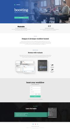 Nice flat design for a pretty cool tool for designers and developers. http://www.render.ly/
