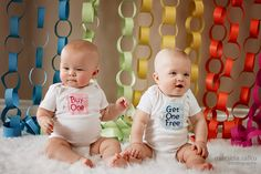 Marsida Salku Photography ~ Windsor ON Children Photographer. Easter photo with bunny.  Baby twins 6 month photos. Baby Twins Easter photo.