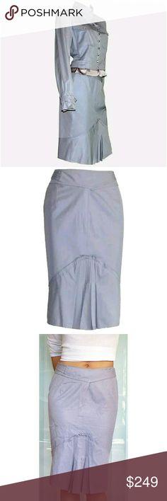 0e29e3aa5d0 Spotted while shopping on Poshmark: YSL Yves Saint Laurent Tom Ford gray  pencil skirt!
