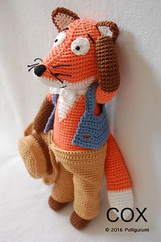 Cox the Fox Amigurumi pattern by Polixéna Pertl