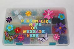 Twist Banz Loom Complete Personalized Collection Case-Flowers, 2015 Amazon Top Rated Shaped Rubber Wristbands #Toy