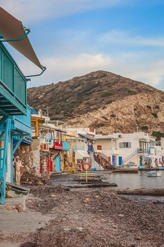A guide to everything you need to know about visiting Klima village in Milos, including lots of photos plus tips on where to eat and where to stay. Click through for the full guide! Most Beautiful Greek Island, Best Greek Islands, Solo Travel Tips, Fishing Villages, Greece Travel, Day Trips, Travel Guides, Playground, Places To See