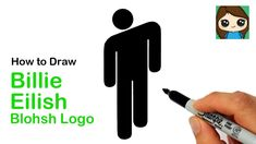 How to Draw the Billie Eilish Blohsh Logo 🎵 - YouTube Logo Tutorial, Draw Logo, Drawing Lessons, Step By Step Drawing, Learn To Draw, Billie Eilish, Cute Drawings, Youtube, Crafts