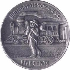 Ron Landis - Hobo With Steam Engine (reverse carving) On Nickel Coin Art, Steam Engine, Coins, Carving, Train, Bear, Personalized Items, Drawings, Rooms