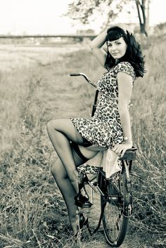 "I may have to do something like this of me.  I want a ""pin-up"" style photo of me & my road bike."
