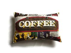 But First Coffee Coffee Lovers Gift Coffee Beans Cushion