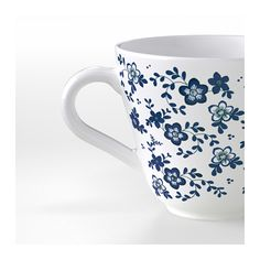 JÄMNT Mug, white, dark blue