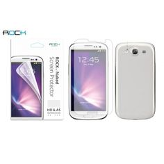 Rock Double High Definition Anti Scratch Naked Screen Protector For Samsung Galaxy S3 i9300 US$5.99
