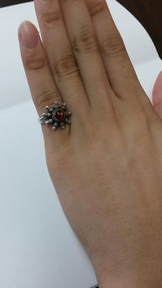 Size 6 Estate Amber Sterling 925 Silver Ring by ThomasBrothers