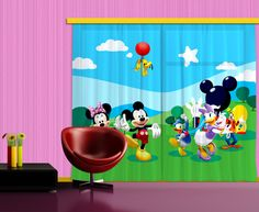 Mickey mouse and friends kids window curtain. New Curtains Collection By WallandMore!