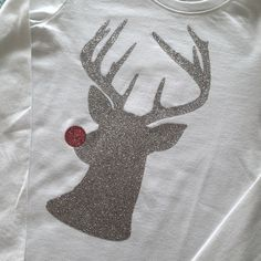 Sew Creative's Hipster Rudolph The Red Nosed Reindeer Hipster Shirt made on the Cricut Explore with Expressions Vinyl (Ironed On)