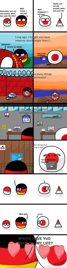 """A Perfect Match"" by Bob Bobingston ( Germaney Japan ) #polandball #countryball #flagball"