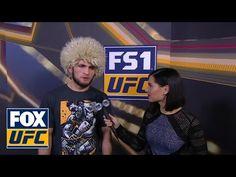 MMA Khabib Nurmagomedov talks to Megan Olivi Ufc 2, Ufc News, Muslim Men, Mma Boxing, Mixed Martial Arts, Fan, Beauty, Hand Fan, Beauty Illustration