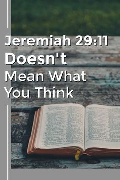 Most people read Jeremiah as a personal prayer written to them. But that's not the real meaning of this verse. We have to read it in context. Bible Study Tips, Bible Lessons, Jeremiah 29 11 Meaning, Bible Verses, Bible Book, Bible Notes, Prayer Scriptures, Christian Encouragement, Bible Encouragement