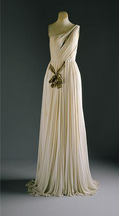 evening gown, 1954, Madame Grès, white silk jersey by resmc, via Flickr