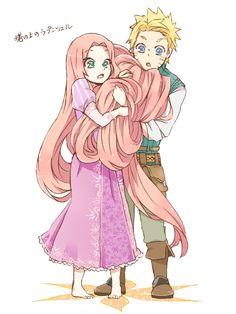 NARUTO, Uzumaki Naruto, Haruno Sakura, Tangled, Anime Couple, Disney Couple