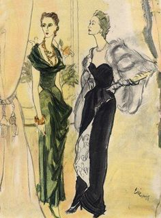 Eric 1948 Maggy Rouff & Jacques Heim Evening Gown