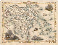 Island of Crete 1680's Vintage Style Decorative Map 20x24