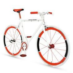 Fixie Bike 54 cm White Red, 600€, now featured on Fab.