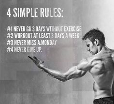 Simple rules to follow ! Easy to stick to them, just try !