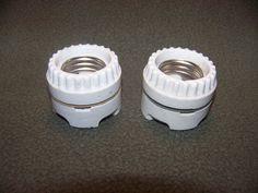 Vintage Light Sockets Pair Porcelain Leviton 2 part Electric Darkroom Fixtures #Leviton #ebay #GotPicks