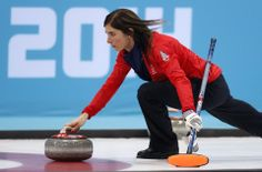 DAY 13:  Eve Muirhead of Great Britain competes during the Curling Women's Semifinal - Canada vs. Great Britain http://sports.yahoo.com/olympics