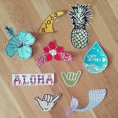 Hydro flask stickers custom decals for your hydroflask pineapple mermaid tail stickers personalized sticker Handmade in Kailua Hawaii Preppy Stickers, Cool Stickers, Laptop Stickers, Surf Stickers, Bumper Stickers, Personalized Stickers, Custom Decals, Pin And Patches, Artsy