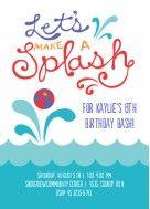 Splash Pool Party Birthday Invitation