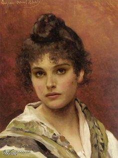 Famosos en cuadros antiguos : Natalie Portman