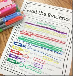 Super Text Detectives- color-coded text evidence from Luckeyfrog Learning $ and now with a 2nd grade and 3rd grade version for differentiation!