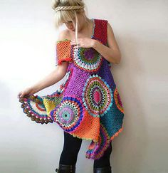 Circle crochet blouse