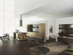 ALNO Kitchen Ranges: The ultimate in modern German kitchen design. Kitchen Cabinets Fronts, Cabinet Fronts, Kitchen Cabinet Colors, Kitchen Colors, Alno Kitchen, Gold Kitchen, Modern Interior Design, Interior Architecture, German Kitchen