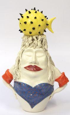 """scultura """"Puntigliosa"""" cm 30"""