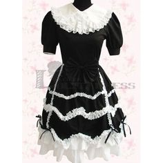 Unique, Elegant Designer Black and White Lace Sweet Lolita Dress for Full Selection of sweet lolita dresses, Tailor Made, Fast Shipping. Buy Black and White Lace Sweet Lolita Dress Now! Gothic Dress, Lolita Dress, White Lace, Black And White, Fashion Group, Quinceanera Dresses, Clothes For Sale, Dress P, Victorian Fashion