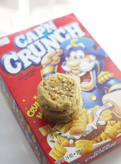 the ultimate throwback to childhood — Cap'n Crunch Peanut Butter Cookies. » #capncrunch #cereal #peanutbutter #cookies
