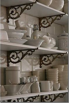 shelves like this would definitely encourage me to have matching plates