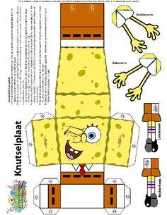 Knutsel Spongebob op Kids-n-Fun