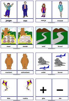 Starter Set Concept Cards - Miss Sanne School Items, I School, Primary School, Dutch Phrases, Learn Dutch, Dutch Language, Kids Homework, Preschool Learning, Homeschool